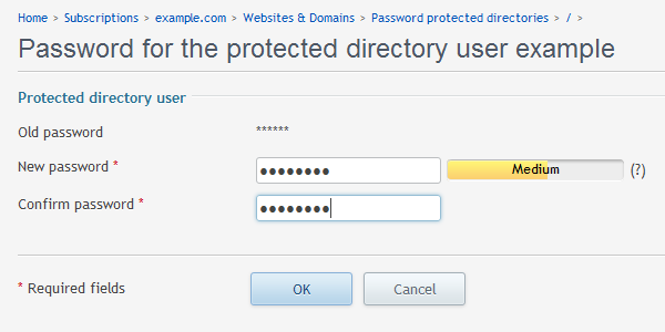 Password protected change