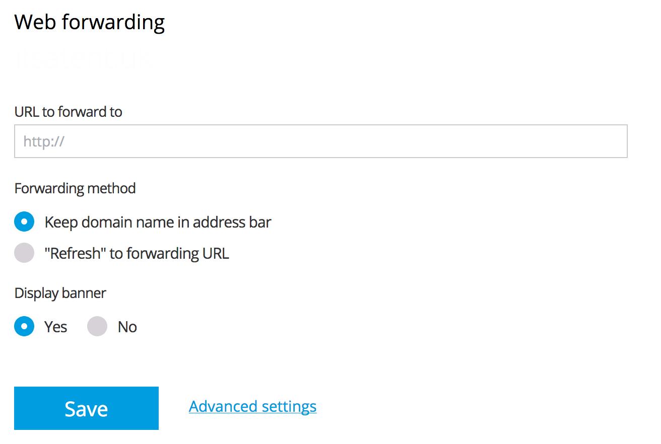 Configuring Web Forwarding