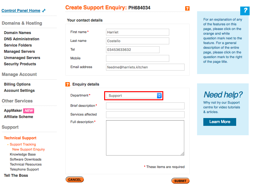 how to make web form fields compulsory insightly