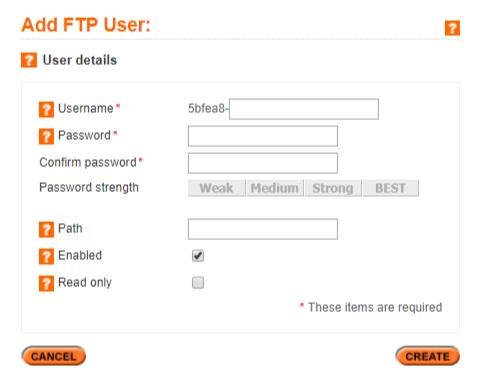 Set FTP details