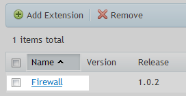 firewall option