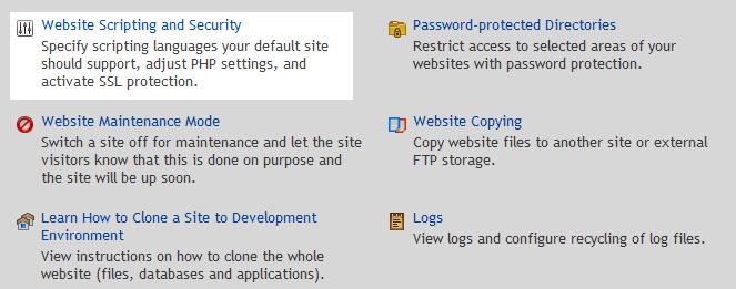 website scripting security