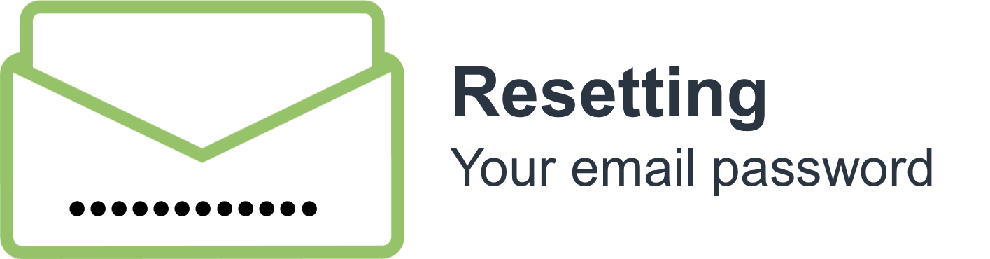 Resetting your email password