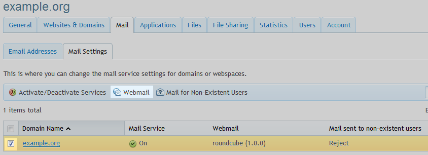 email webmail option