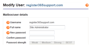 How to reset your Site Admin/Email Password