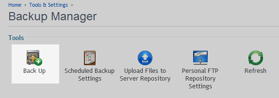 backup domain option