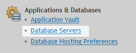 Database option