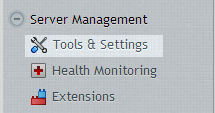 Tools and Settings Menu