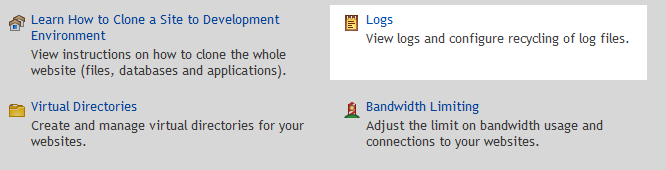 Logs option