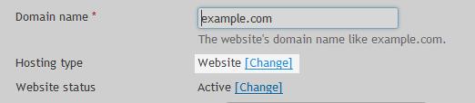 Hosting change settings