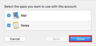 mac mail setup complete
