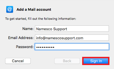 mac mail login details