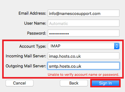 mac mail imap settings