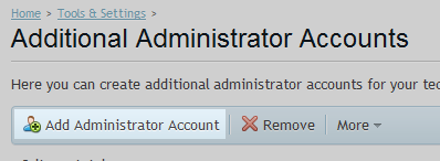 Add Administrator option