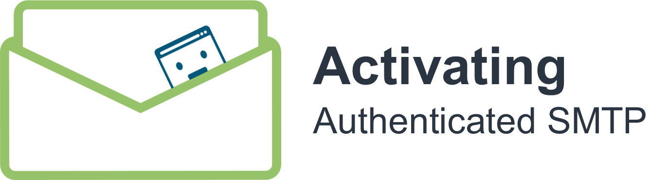 Activating Authenticated SMTP