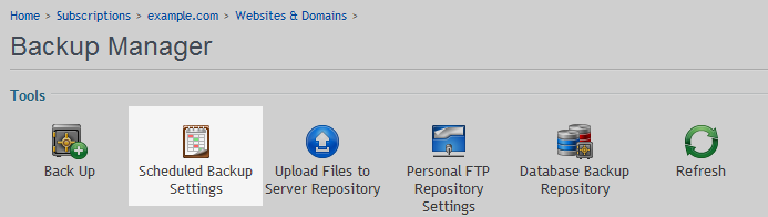 backup domain scheduled icon