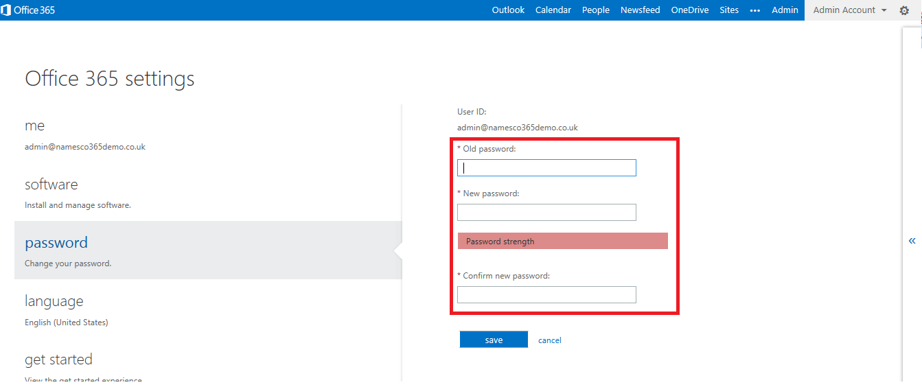 how to change office 365 password  How to reset the administrator password for Office 365