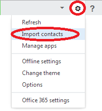 How to import your contacts to Office 365