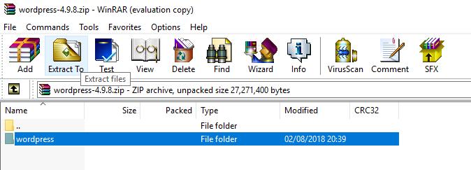 extract zip folder