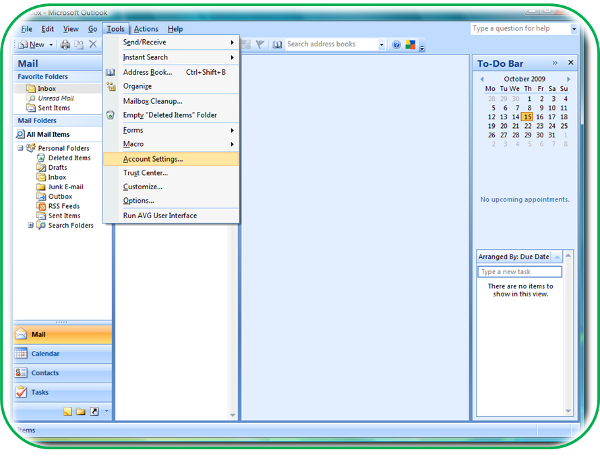 How to setup an IMAP account in Outlook 2007