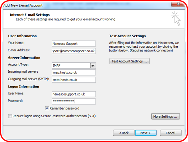 How to enable SSL in Outlook 2007