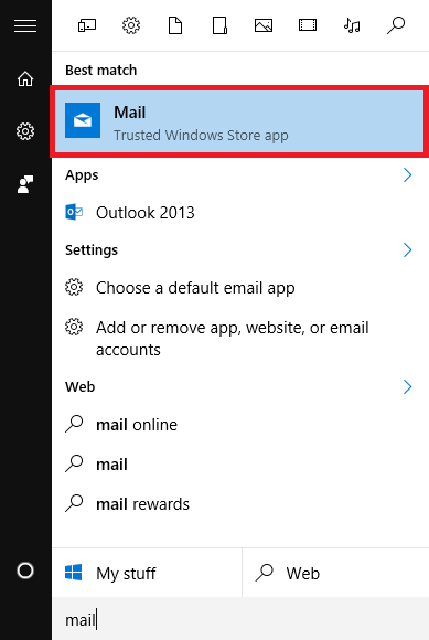How to setup an Exchange account in Mail on Windows 10