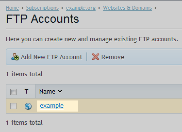 ftp quota user select