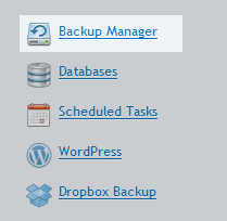 backup domain select