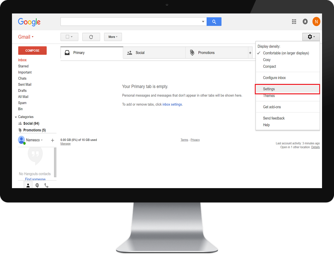 How to setup a POP3 account in Gmail
