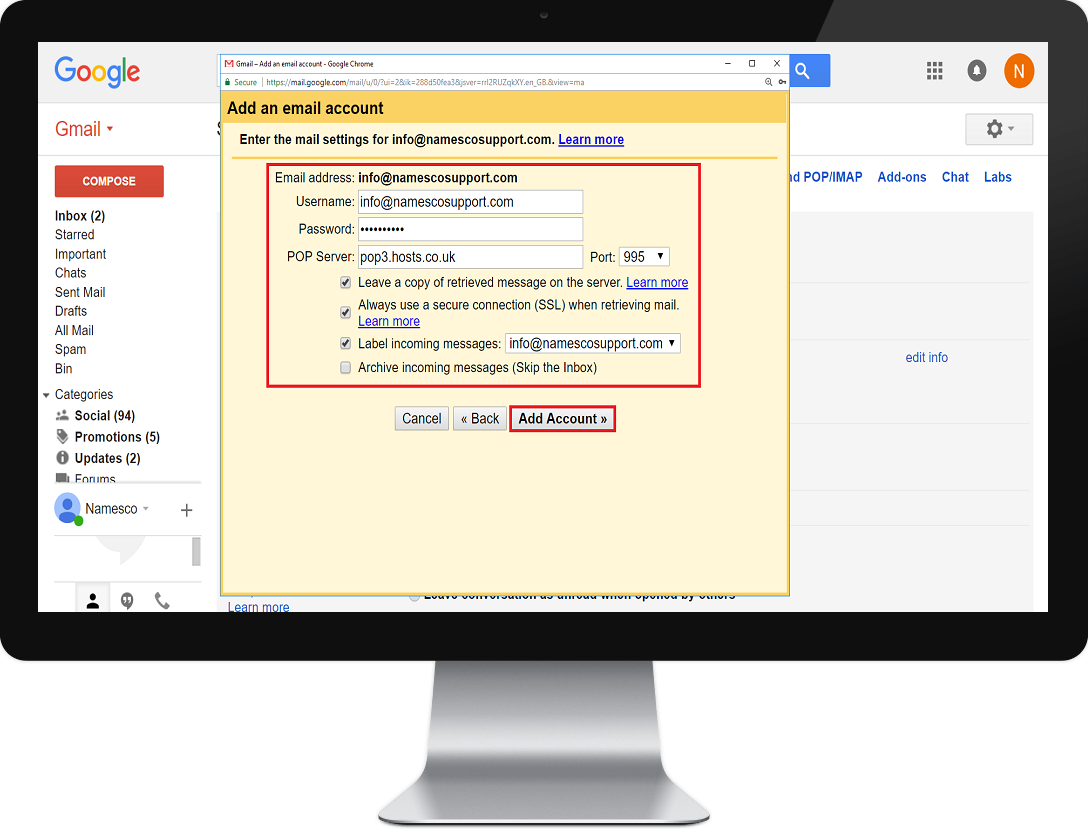 gmail step 5