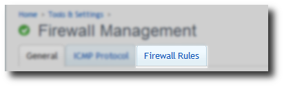 Firewall rules tab