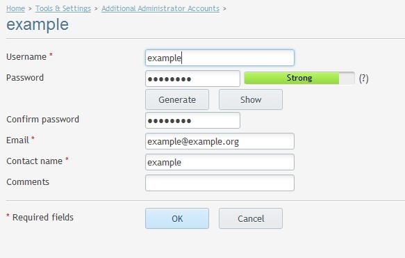 adminstrator additional change