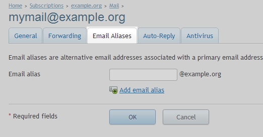 Select - Email Aliases