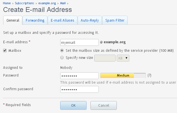Adding - EMail