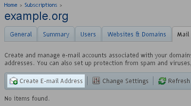Select - Add New Email