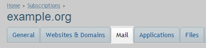 mail tab option