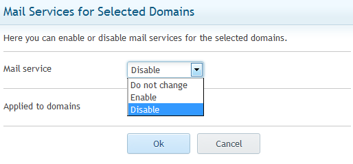 disable mail