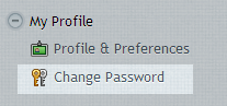 My Profile - Change Password