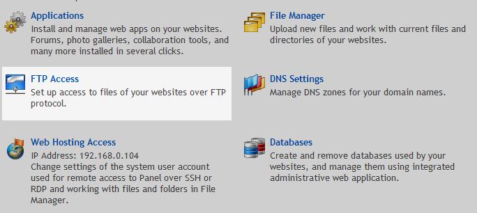 FTP Access Option