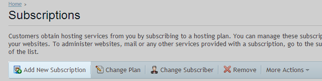 Add - Subscription