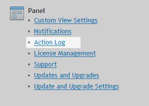 Action log option